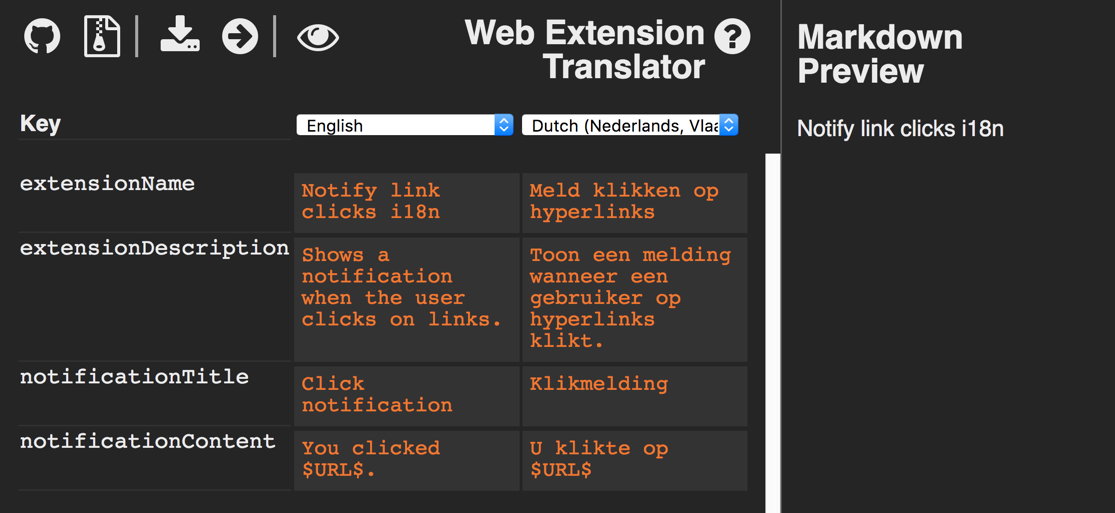 Web Extension Translator