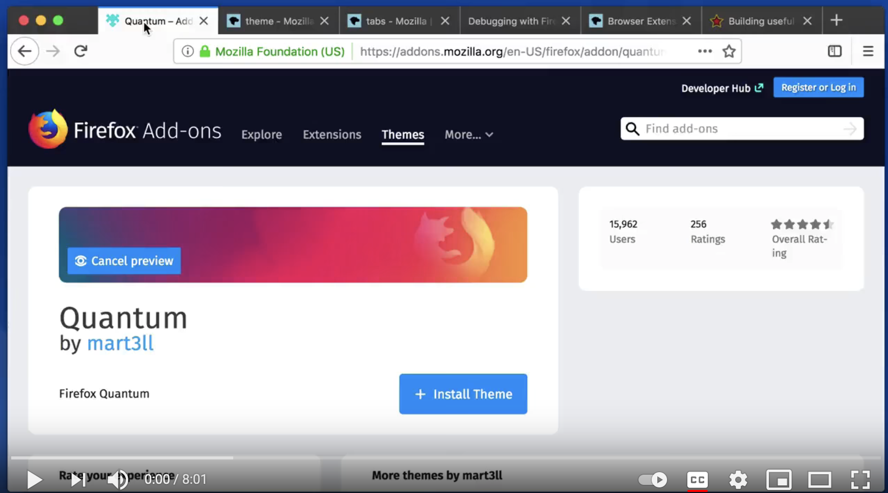 Dynamic Themes in Firefox